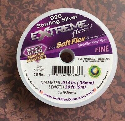 Soft Flex 49 Strand Beading Wire, .19 Steel Tone,30ft