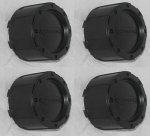 4 CAP DEAL EAGLE ALLOYS 3226 PRO COMP LOGO 3293 WHEEL RIM FLAT BLACK CENTER CAPS