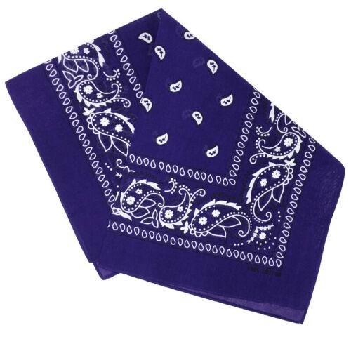 LOT OF 3 Bandana Cotton Paisley  Double-Sided Scarf Head Wrap Neck Headband