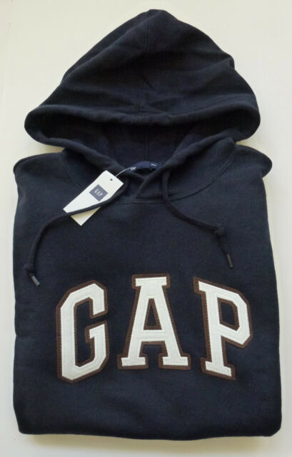 Mens GAP Logo NAVY BLUE HOODIE SWEATSHIRT Sizes XS, S, M , L, XL, 2XL - NWT