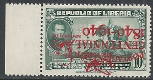 Liberia 1941 YV Airmail 19C INVERTED Ovpt MNH VF