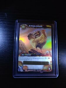 USED World of Warcraft El Pollo Grande Loot Card Scratched In Plastic Sleeve!