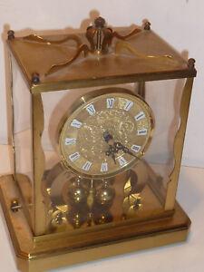 ancien horloge schatz s hne germany old clock vintage lantern pendule poser ebay. Black Bedroom Furniture Sets. Home Design Ideas