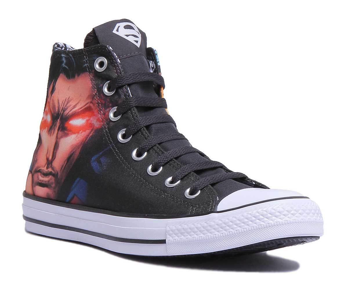 Converse CT All Star Hola Dc Comics-Superman Mujeres Negro Negro Negro Zapatillas Talla UK 3 - 8  hasta un 60% de descuento