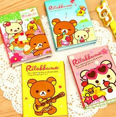 FD922 Cartoon Bear 4 Fold Sticky Note Sticker Bookmarker Memo Pad Random 1pc:)
