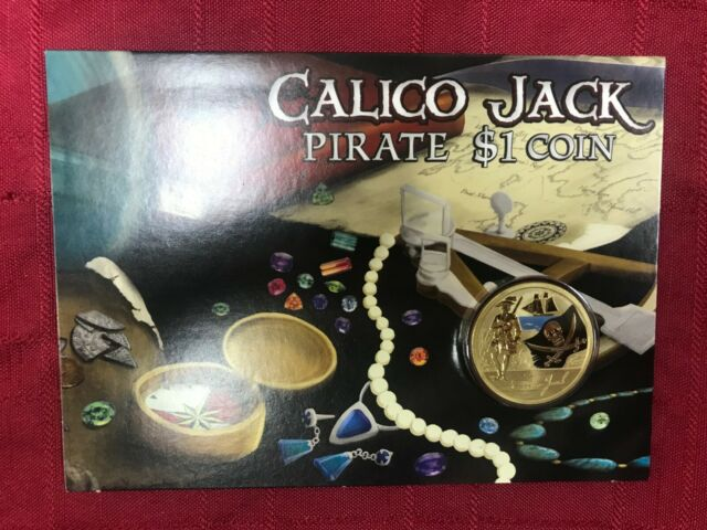 CB1215) Tuvalu 2011 Perth Mint Calico Jack Pirate Uncirculated $1 coin