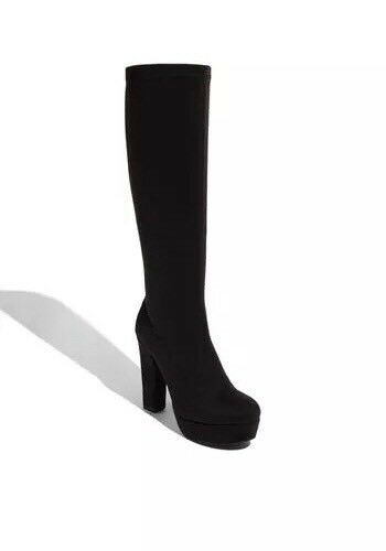 "*BP ""Envy"" Black Faux Leather Knee High Platform Boot Women Size 8M, 9M & 9.5M,"