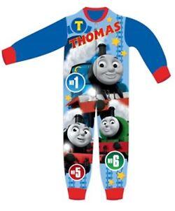 Sleepsuit Pyjamas Superman Boys Kids Character Fleece All In One Bodysuit