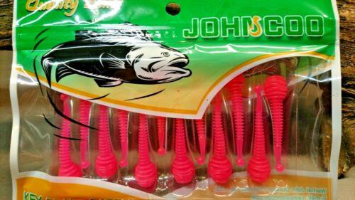Forelle /& Barschköder 12 Stück pro Packung 9 verschiedene Farben Gummifische