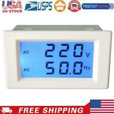 Lcd Digital Dual Display Ac80 300v Voltmeter 450 650hz Frequency Meter1