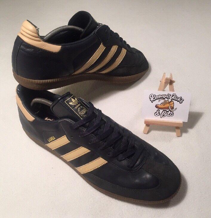 """d6c9692d Zapatillas para hombre Adidas Adidas Adidas Samba Negro Cuero ' 2018  vintage raro estilo Retro informal. """""""