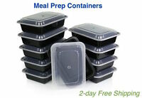 Meal Prep Containers Lunch Cooler Tupperware Food Storage Portion Control Plate