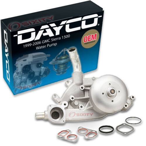 Engine ly Dayco Water Pump for GMC Sierra 1500 1999-2006 5.3L 6.0L 4.8L V8