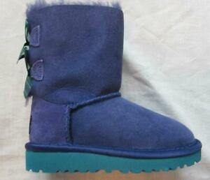 71ef560b451 Details about UGG girls kids sz 8 toddler purple Bloom Bailey bow sheepskin  boots NEW in box