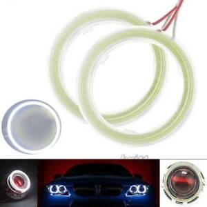 Cover 60-120MM 12V COB Angel Eye Waterproof Halo Ring Headlight Lights Fog