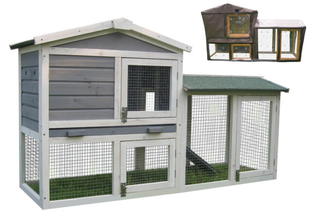 RABBIT / GUINEA PIG HUTCH HUTCHES RUN RUNS BUNNY BUSINESS THE GROVE 4 COLOURS