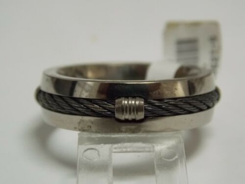 Triton Black & White Titanium Fashion Men's Wedding Band 7mm Wide