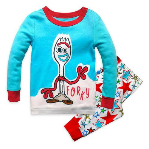 NWT Disney Store Forky PJ Pal Pajama Set Toy Story Boys 4,5,6,7