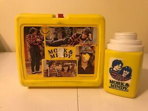 VINTAGE-1978-MORK-amp-MINDY-PLASTIC-LUNCHBOX-W-THERMOS-ROBIN-WILLIAMS