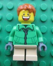 Lego City BOY Minifigure SKI JACKET -Short Legs- Red Tousled Hair
