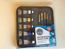 Daler Rowney Simply Watercolour Travel Case Paint and Brushes