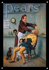 Pears Soap, Metal Sign, Hair, Retro, Enamel, Vintage, No.858