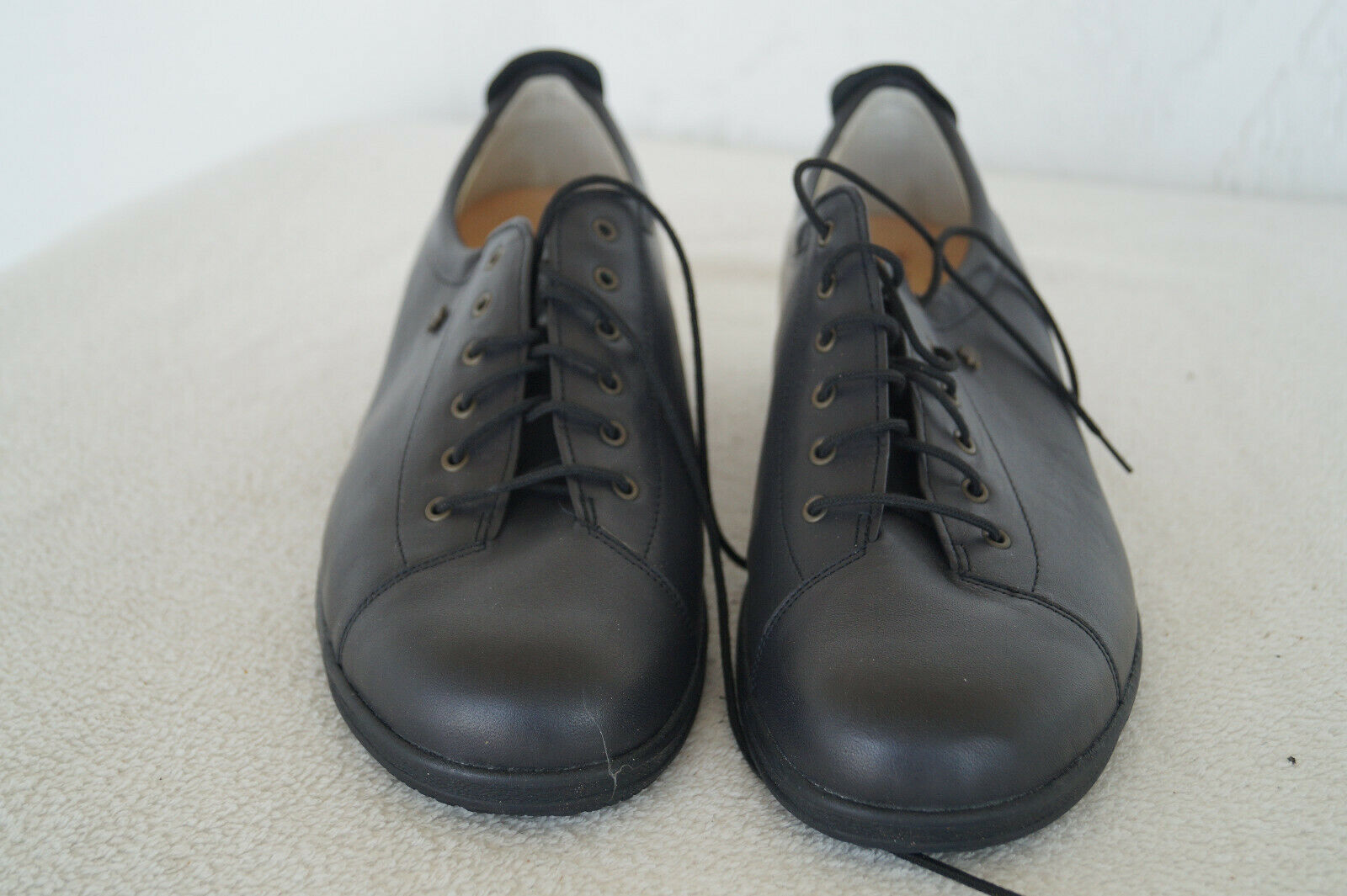 FINN COMFORT Ems Schuhe Schnürschuhe m. Einlagen Gr.8,5   42,5 schwarz Leder NEU
