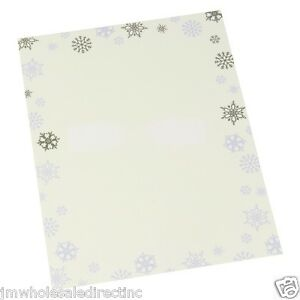 new 30 sheets carlton cards holiday snowflake stationery