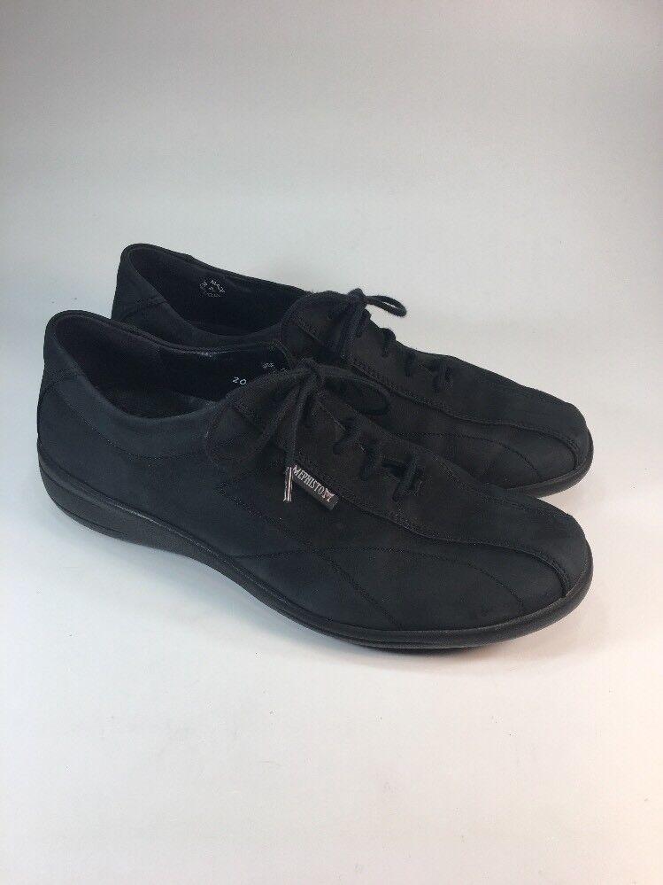 Mephisto nero Nubuck Leather Lace Up Comfort scarpe scarpe da ginnastica donna Dimensione 7.5 M