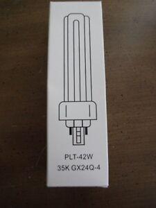 Pack of 10 PLT 42W GX24q-4 835 42 Watt Triple Tube 4 Pin Compact Fluorescent Light Bulb
