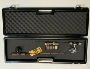 2 Ice Fishing Combos FRABILL 7010 The Rod Safe Ice Fishing Combo Carrying Case