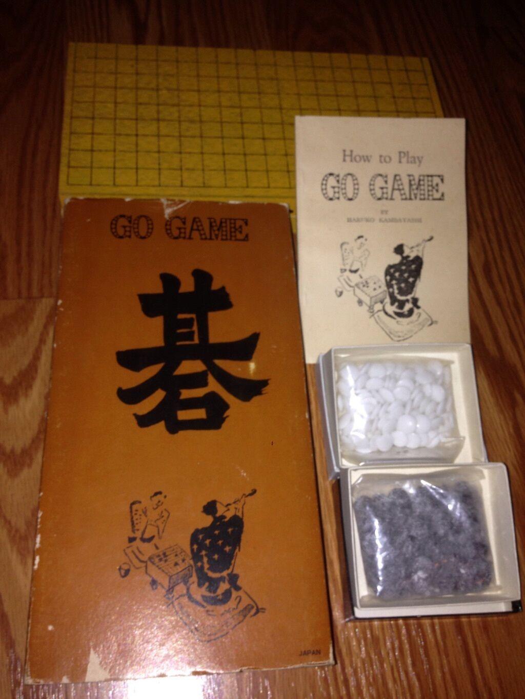 ビンテージ1961レアジャパニーズゴーゲームゴークシェル&スレートは、w / sleaveニースを使用しなかった