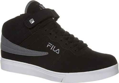 NEW 2016 BOY/'S GIRL/'S FILA VULC 13 BLACK  CLASSIC HIGH TOP ANKLE STRAP SNEAKERS