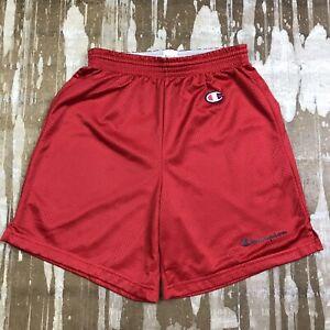 Vintage Champion Basketball Shorts Red and White 100/% Nylon Size 18
