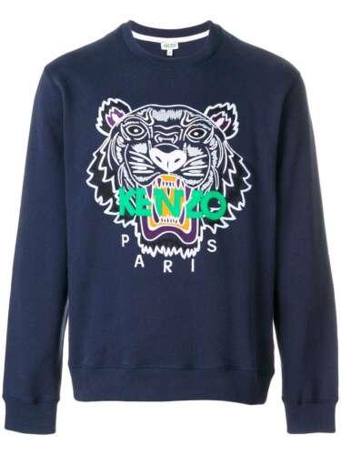 Groot Jumper Icons Sweatshirt Marineblauw Geborduurd Tijger katoen Logo Kenzo 6P8wAqSB4A
