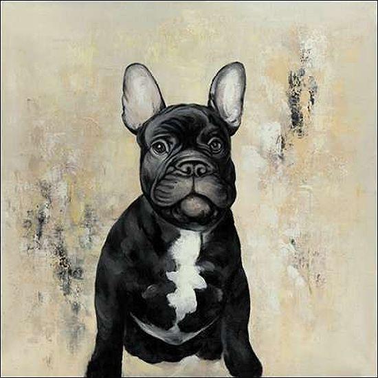 Atelier B French Bulldogs Keilrahmen-Bild Leinwand Bully Welpe Hund