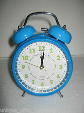 UNIQUE- METALIC TABLE ALARM CLOCK- WITH LED LIGHT -BIG RING SOUND -2 METAL BELLS
