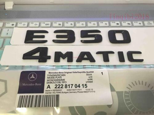 "Matt black /""E350 4 MATIC/"" Letters Trunk Emblem Badge Sticker for Mercedes Benz"