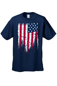 Ripped Torn USA Flag Mens American Vest Stars /& Stripes Independence Day Top