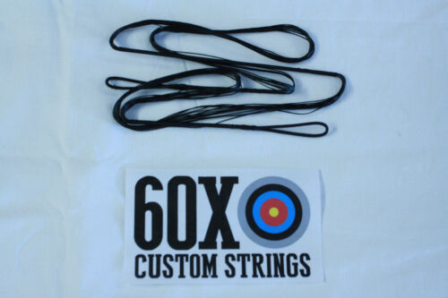 "60X Custom Strings 62/"" 66 AMO 12 Strand Black Dacron B50 Recurve Bowstrings Bow"