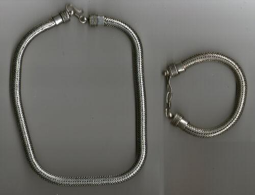 collana bagno argento indiano 220 gr piu bracciale 100 gr snake necklace 51 CM