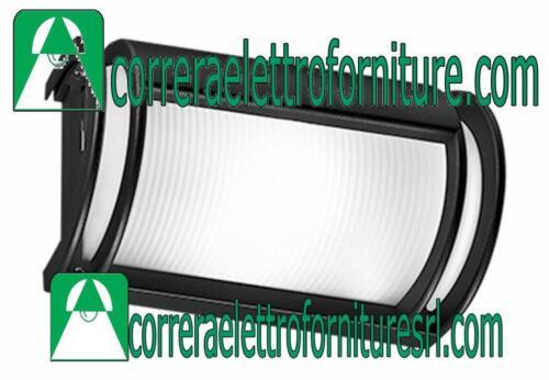 Plafoniera vetro parete soffitto esterno design PRISMA NIKKO nera E27 001478