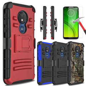 For Motorola Moto G7 Optimo Optimo Maxx Case With Stand Clip Screen Protector Ebay