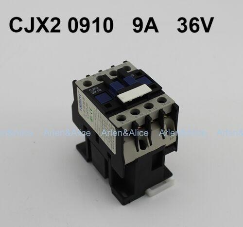 CJX2 0910 AC contactor LC1 9A 36V 50HZ