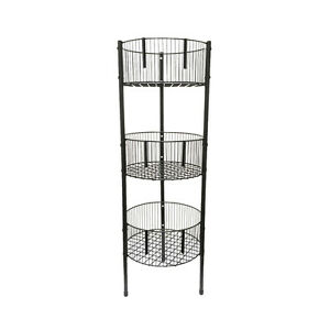 Ordinaire Image Is Loading 3 Shelf Tower Rack Kitchen Bathroom Retail Dump