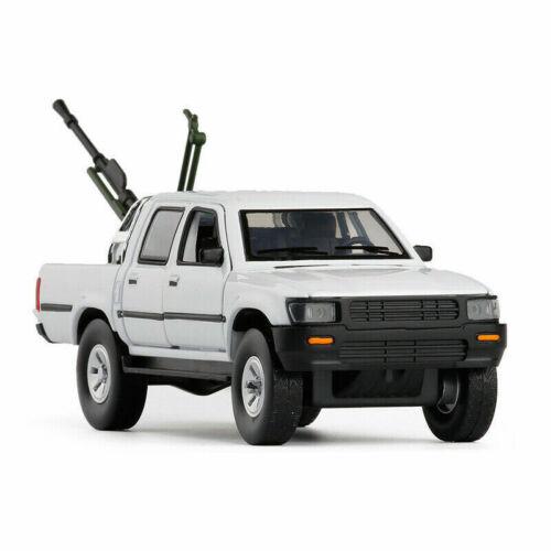 1:32 Toyota Hilux Pickup Truck w// Anti-tank Gun Model Car Diecast Toy Gift White