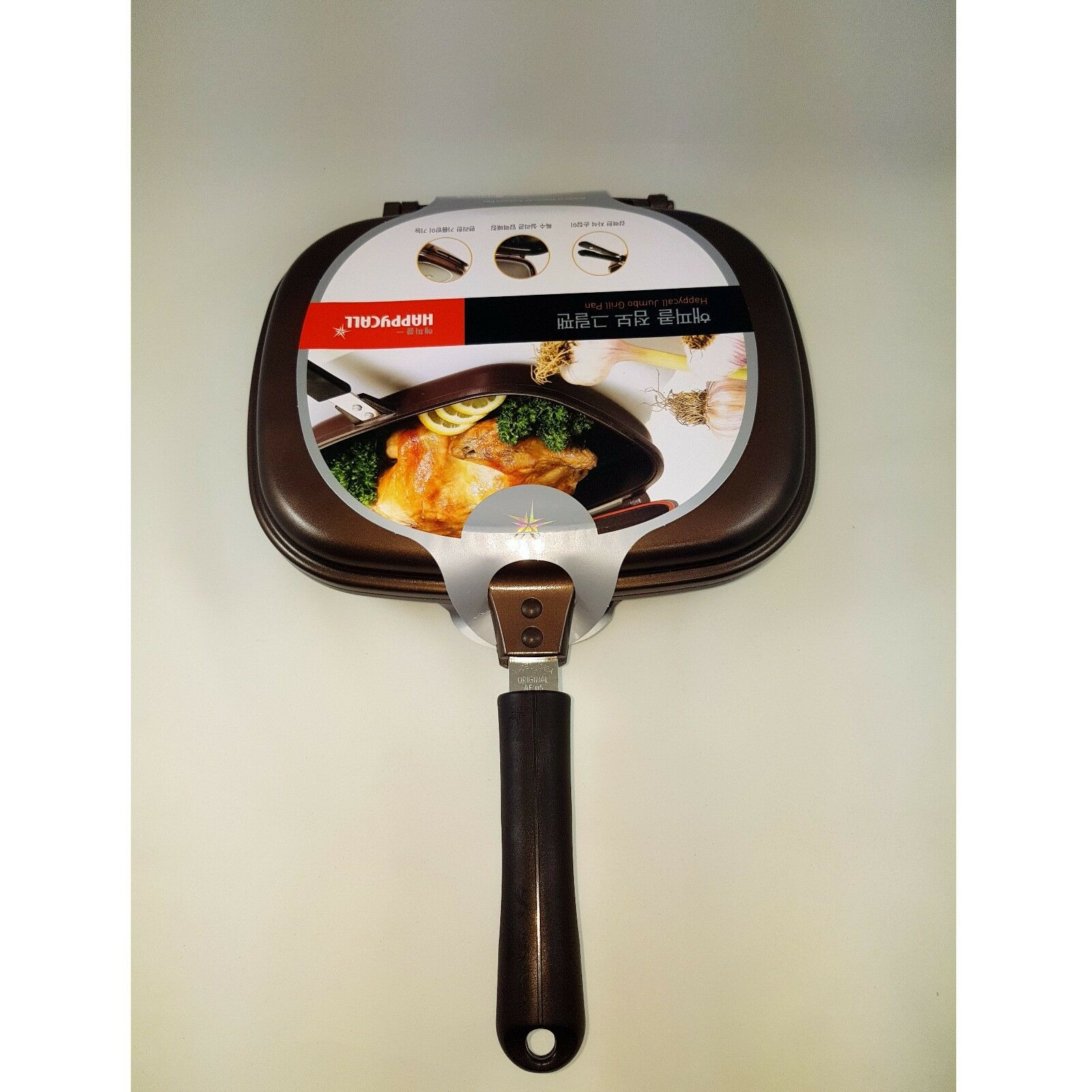 Happycall Nonstick Double Sided Pressure Jumbo Titanium