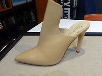 David Isaacs Women Shoe Camel Nude High Vamp Mule Pump Peep Toe Sandal