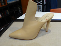 David Isaacs Women Shoe Camel Nude High Vamp Mule Pump Peep Toe Sandal