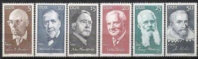 Postfrisch Wohltuend FüR Das Sperma Briefmarken Systematisch Ddr Nr.1644/49 ** Bedeutende Persönlichkeiten 1971